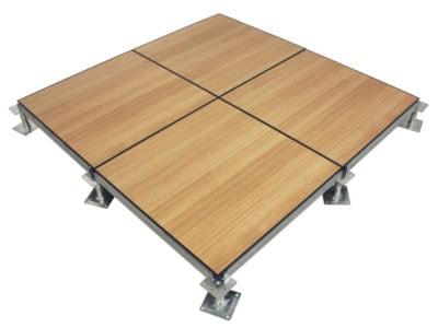 raised floor systems with wood flooring finish