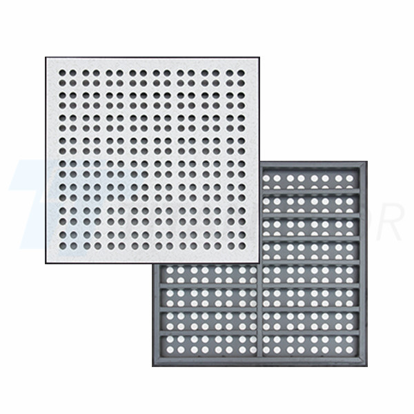 25% ventilation rate perforated panel