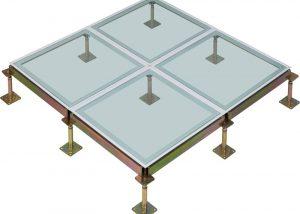 Glass Raised Floor System