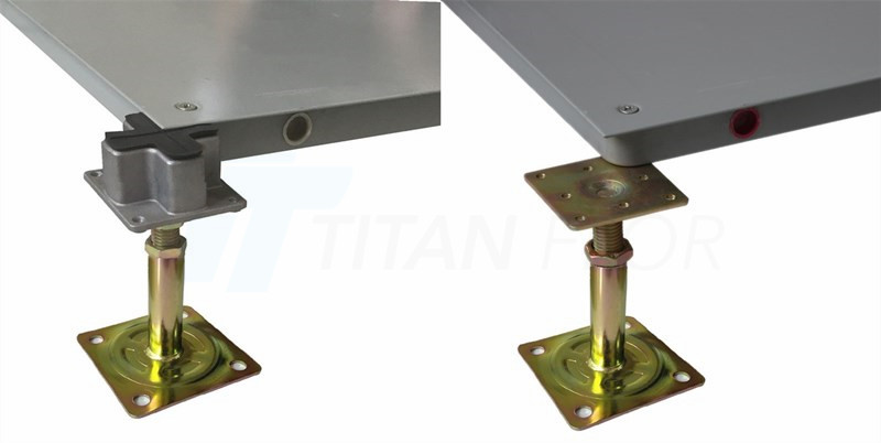 raised floor tube type pedestal