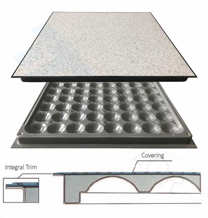 integral trim HPL raised floor