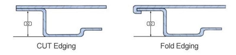 raised floor edge design