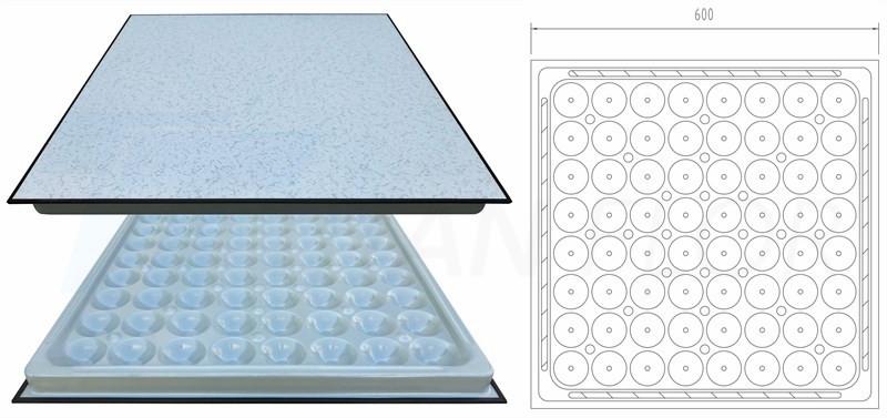 steel anti-static flooring structure