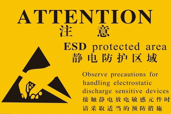 warning sign of anti-static