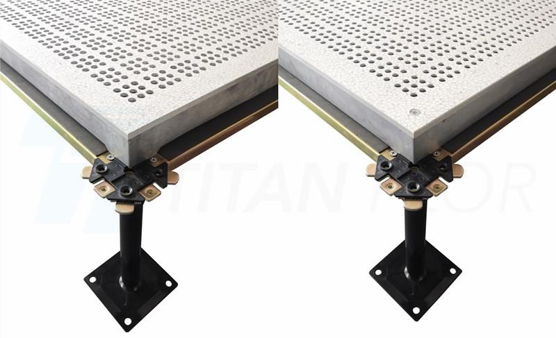 Stringer system and corner lock system aluminum raised floor