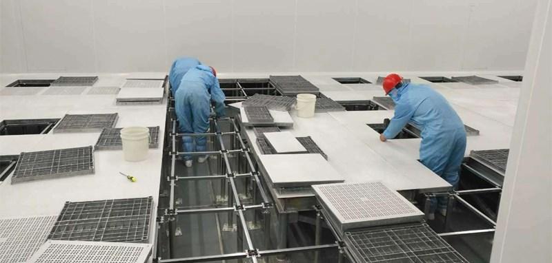 aluminum raised floor installation