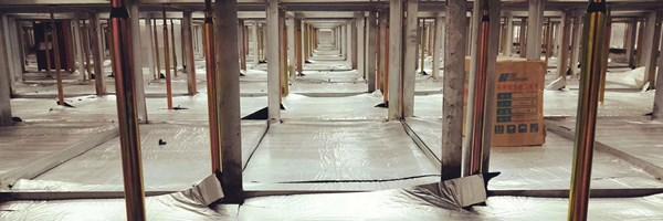 raised floor closed cell insulation