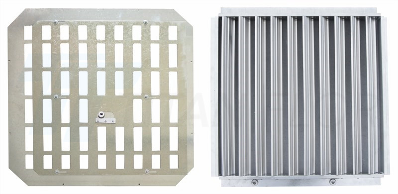 raised floor perforated panel damper