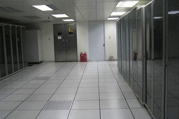 anti-static raised floor in computer room