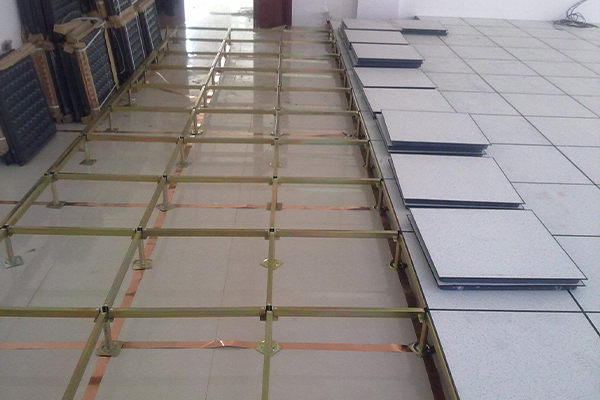 anti-static raised floor installation