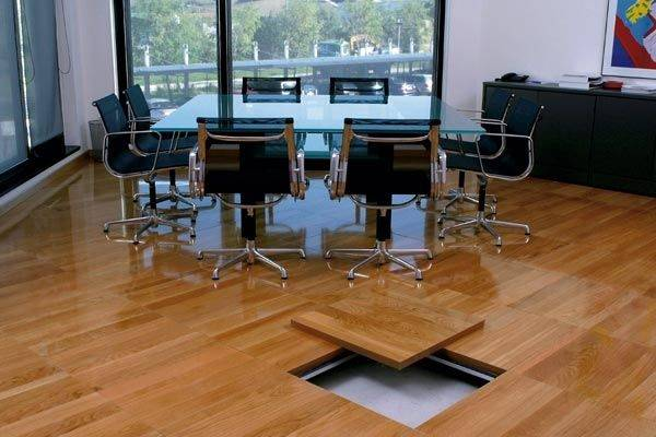 application of anti-static raised floor
