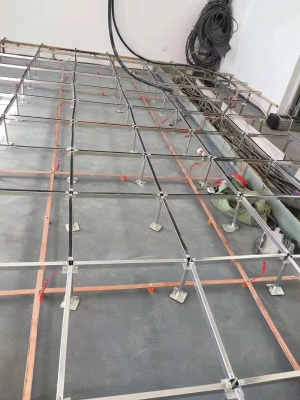 raised floor installation copper bars