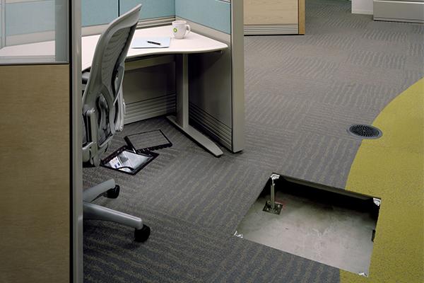 raised floor with carpet