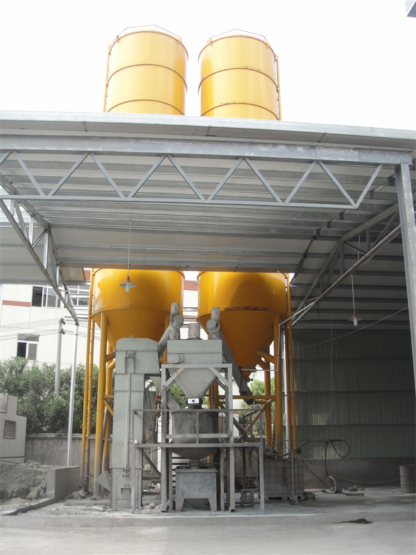 production process - filling cement