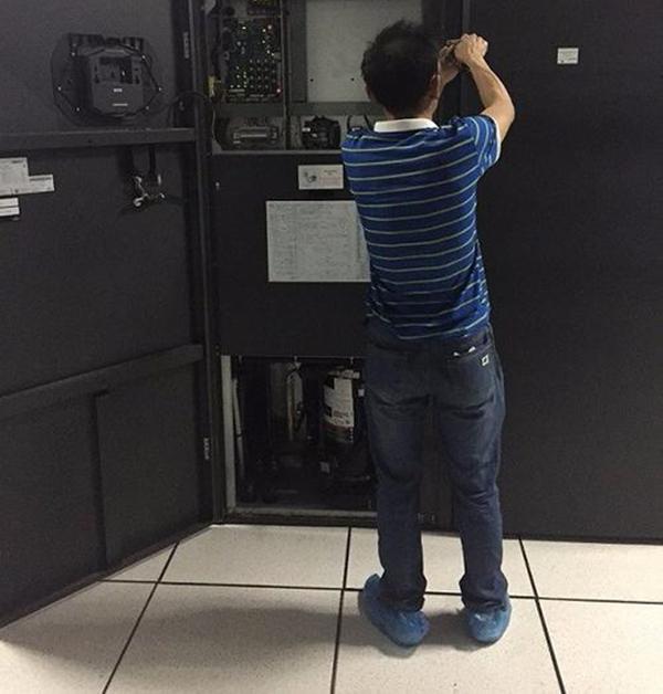 operator in computer room