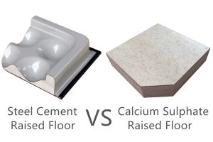 Steel Raised Floor VS Calcium Sulphate Raised Floor