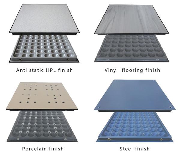 steel cement raised floor different coverings