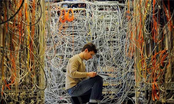 data center complex wiring
